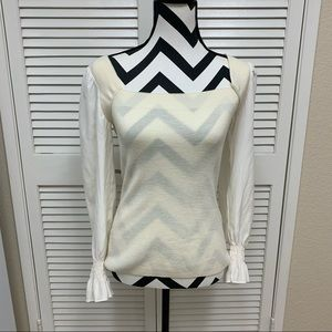 Rebecca Taylor Wool & Silk Square Neck Top XS